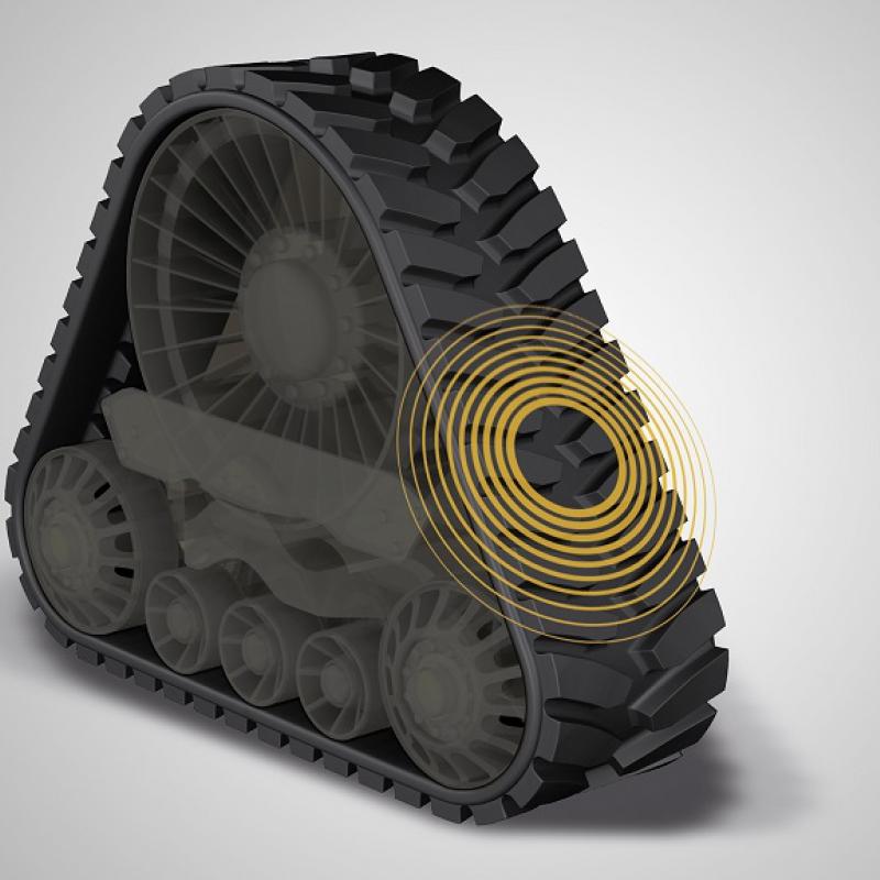 Новые гусеничные колеса с резиновыми траками от Continental